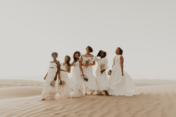 Desert Sand Dune Wedding Inspiration with Natural Hair Ideas for Black Brides – Tor Hawley – The LAW Bridal 8
