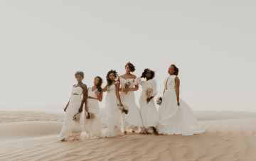 Desert Wedding Inspiration Featuring Natural Hair Ideas For Black Brides