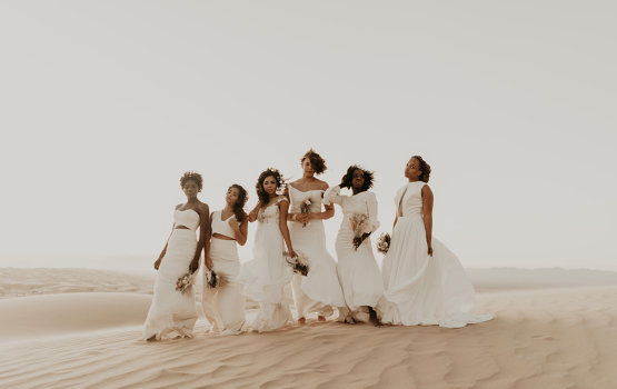Desert Wedding Inspiration Featuring Natural Hair Ideas For Black Brides