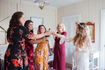 Pacific Northwest Rock and Roll Beach Wedding at The Funky Souwester Lodge – Claire Eliza Wedding Photography – Christina Castello and Drew Pull – Alexandra Grecco Dylan Gown 3