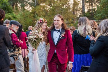 Pacific Northwest Rock and Roll Beach Wedding at The Funky Souwester Lodge – Claire Eliza Wedding Photography – Christina Castello and Drew Pull – Alexandra Grecco Dylan Gown 9