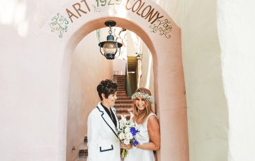 A Stylish Valentine's Day Wedding At Colony 29, Palm Springs