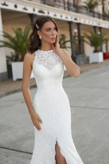 Feminine Simple Minimalistic Wedding Dresses by Mila Bridal 2020 2021 – Bridal Musings 49
