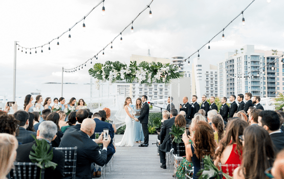 Modern South Beach Miami Rooftop Wedding
