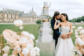 Princess Wedding Inspiration from France – Chateau Chantilly – Elizaveta Photography 6