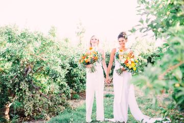 Same Sex Wedding Inspiration with Bright Citrus Decor – Alycia Moore Photography 4