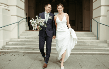 Stunning Intimate Elopement At Home In Minimalist Style