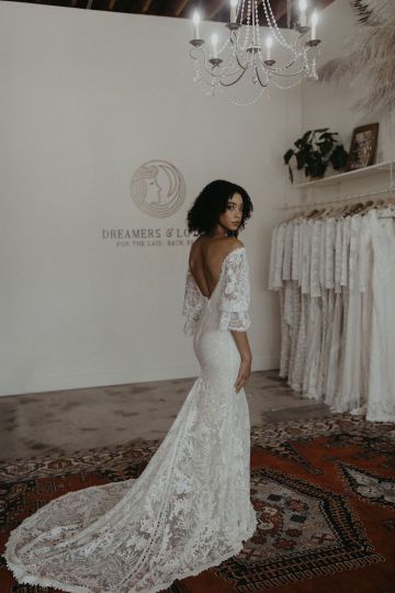 Dreamers and Lovers New Bohemian Wedding Dresses and LA Flagship Bridal Salon – Bridal Musings – Naomi Boho Wedding Dress 1