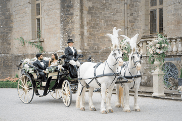 Fairytale Royal English Wedding Inspiration at Clearwater Castle – Sara Cooper Photography – Smitten Weddings 4
