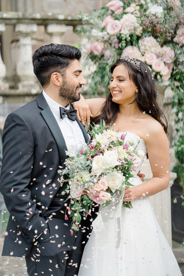 Fairytale Royal English Wedding Inspiration at Clearwater Castle – Sara Cooper Photography – Smitten Weddings 51