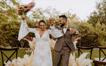 This Pampas Grass-filled Wedding Inspiration Is The Bohemian Bride's Dream