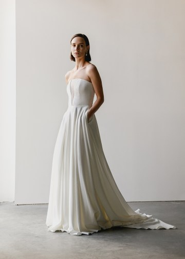 Modern Minimalist 2021 Wedding Dresses by Aesling Bride – Sonder Dress 6