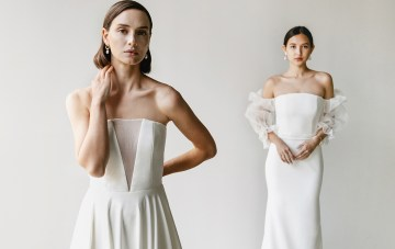 Minimal & Refreshingly Simple New Wedding Dresses By Aesling Bride