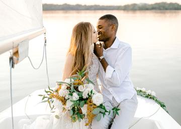 Simple Romantic Sunset Sailboat Elopement Inspiration – Lyndi Ruth Photography 32