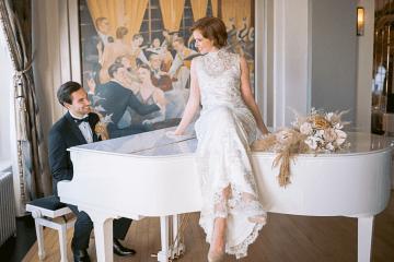 Modern Art Deco Wedding Inspiration at Burgh Island Hotel in Devon – Jennifer Jane Photography 3