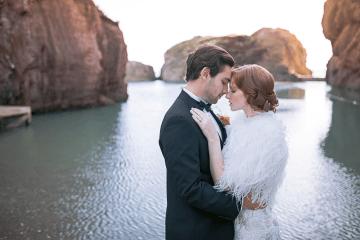 Modern Art Deco Wedding Inspiration at Burgh Island Hotel in Devon – Jennifer Jane Photography 7