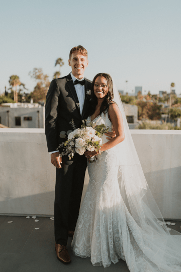 Modern Hollywood Rooftop Elopement During COVID-19 – Julia Green Photography 24