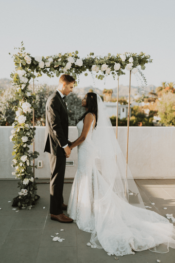 Modern Hollywood Rooftop Elopement During COVID-19 – Julia Green Photography 29