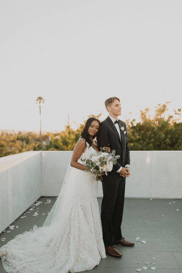 Modern Hollywood Rooftop Elopement During COVID-19 – Julia Green Photography 38