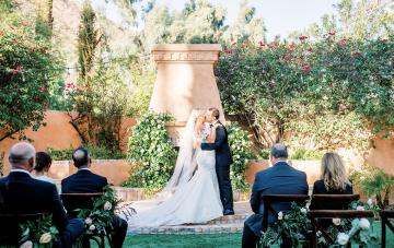 A Covid Couple Turns Their Hawaiian Dream Wedding Into A Just-As-Gorgeous Tropical Arizona Wedding