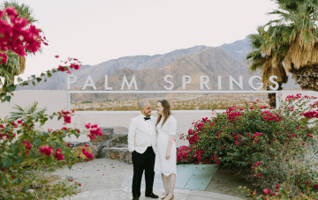 Mid-century Modern Palm Springs Elopement