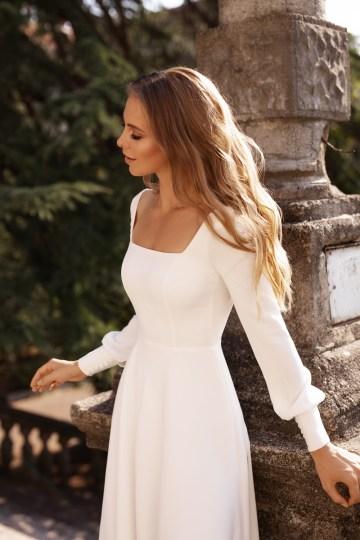 Ultra-Stylish New Wedding Dresses By Mila Bridal (For Under 1000) – Bella Dress – Bridal Musings 1