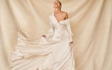 Trend Alert: This Wedding Dress Collection Perfectly Marries Bridal With Menswear