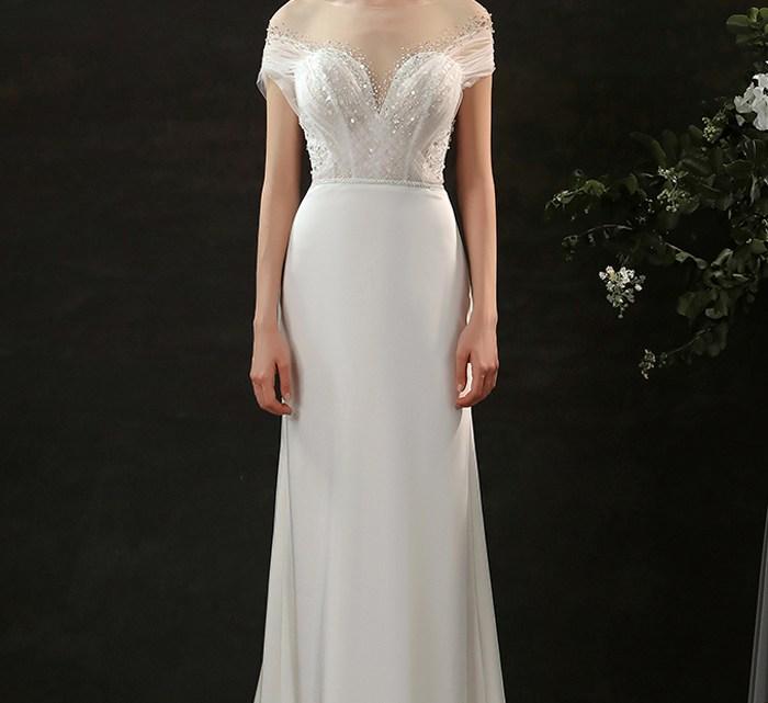 váy cưới trễ vai công chúa