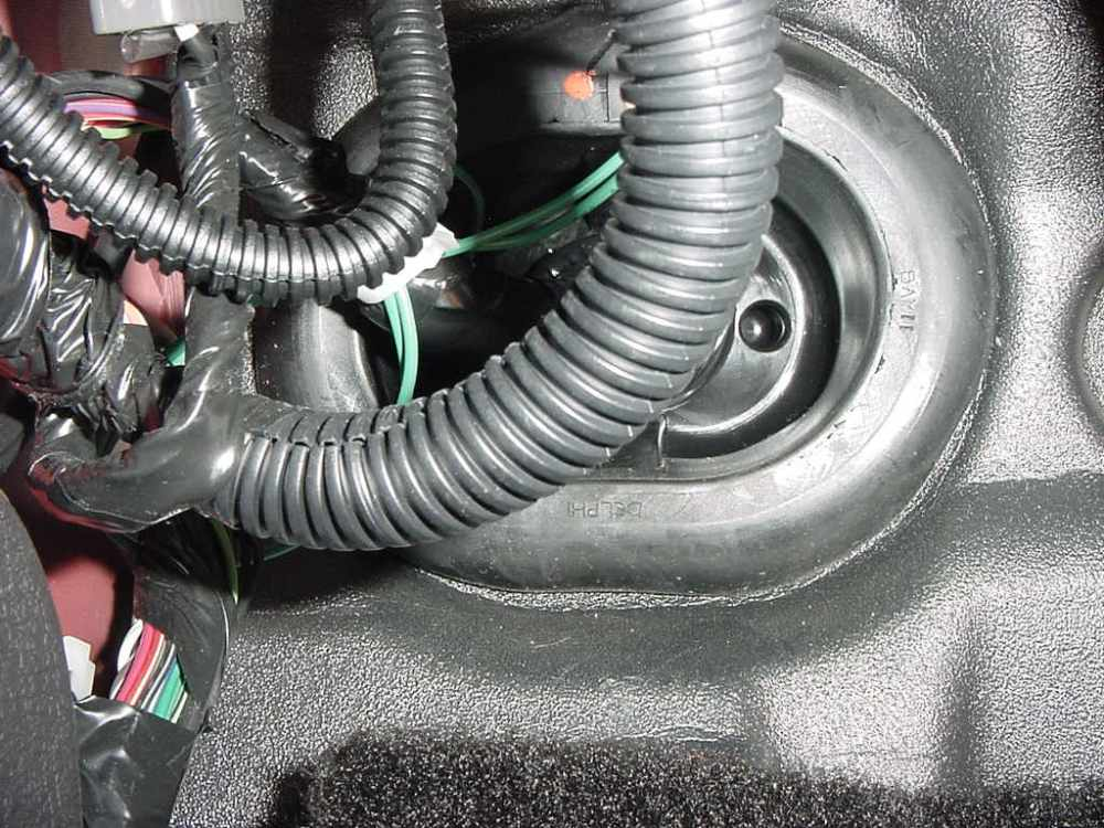 medium resolution of  work using existing bundle as zip tie points pass through the firewall grommet and route up to the engine bay this view is from under the driver s