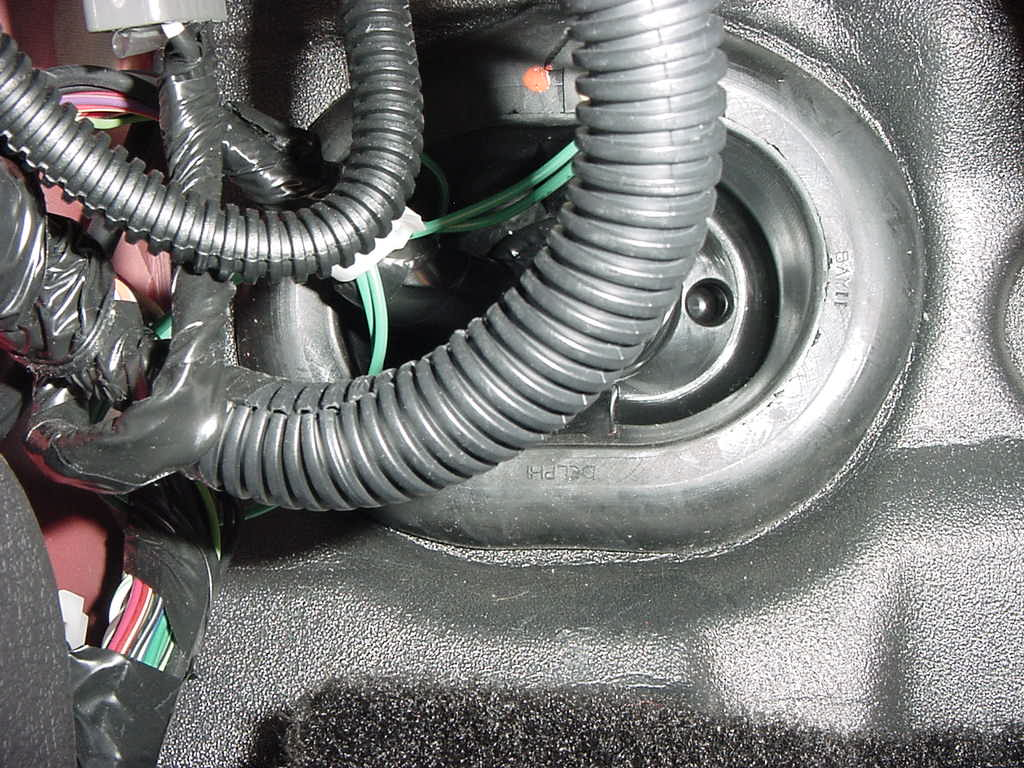hight resolution of  work using existing bundle as zip tie points pass through the firewall grommet and route up to the engine bay this view is from under the driver s