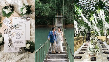 A Romantic Wedding In Laguna With Green And White Details