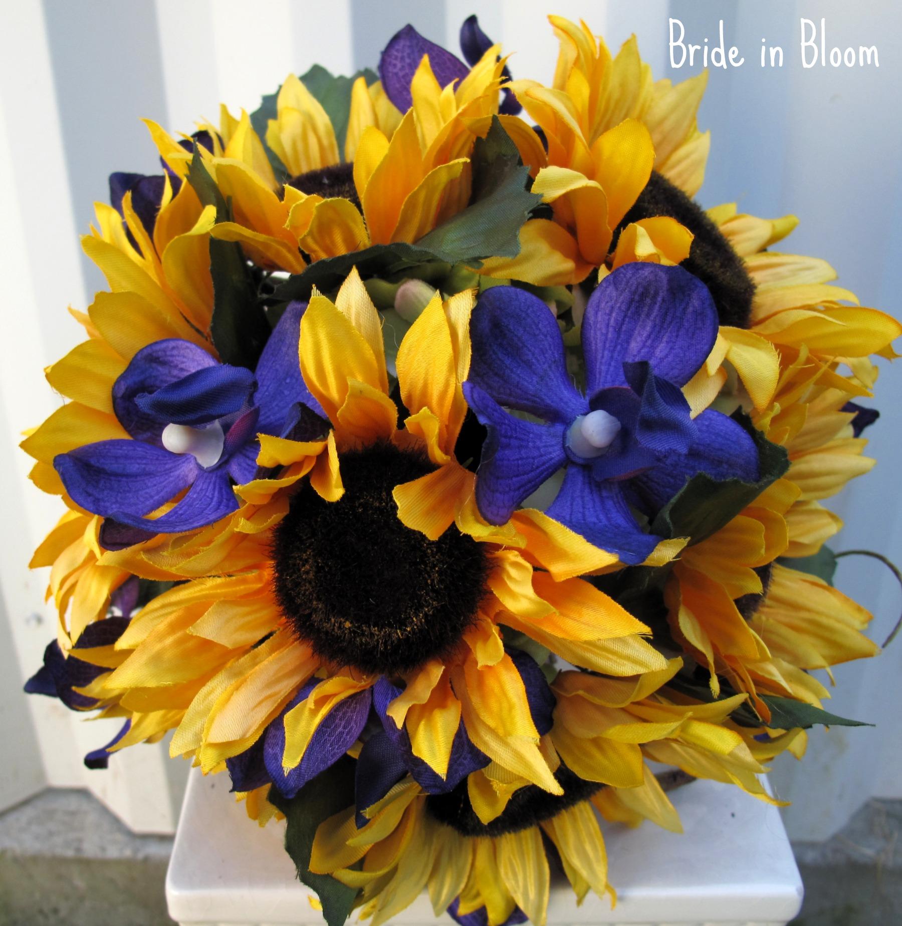 Sunflower Wedding Bouquet Bride In Bloom