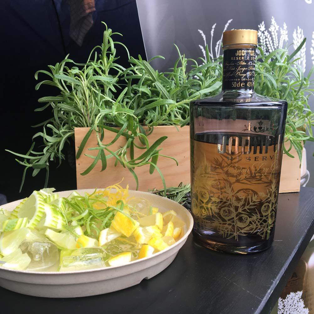 citron stykker til gin & tonic