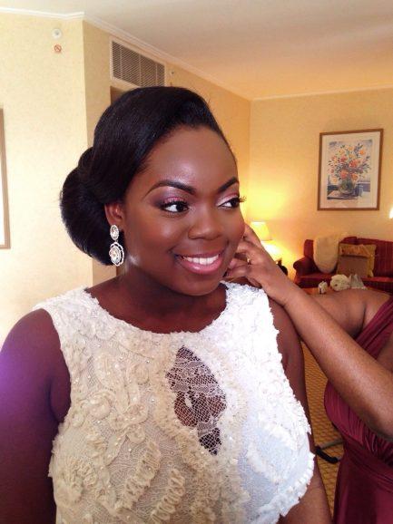 ghanaian bride, black bride, makeup artist for black skin, black makeup artist london, london makeup artist for black skin
