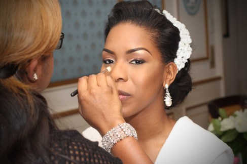 Destination Wedding - Switzerland, London makeup artist for black skin, black makeup artist london, black makeup artist for destination wedding, bridal makeup artist for dark skin