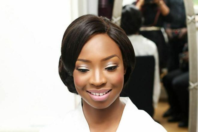 joy adenuga, Ajiri's Wedding, black makeup artist london, london makeup artist for black skin, perfect events uk, adebayo deru, ao media, miss papachichi, bridal pink. pink lips for black skin