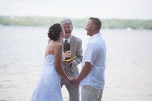 Lakeside wedding with Newcastle Officiant Ray Cross