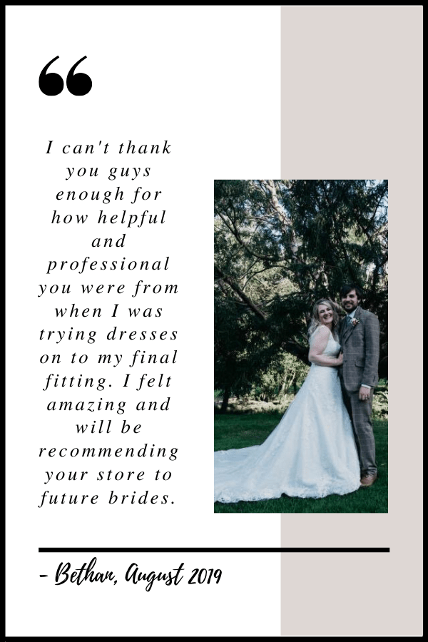 August 2019 Testimonial by Bethan