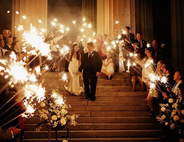 wedding sparkle, sparkler tags