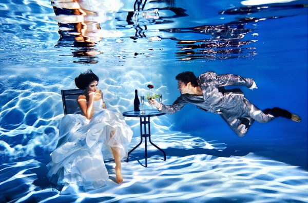 wedding destinations, underwater wedding