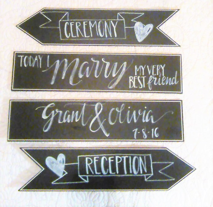 creative wedding signs