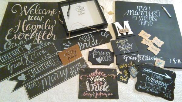 creative wedding signs