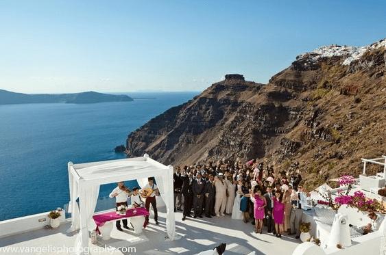 santorini wedding, honeymoon