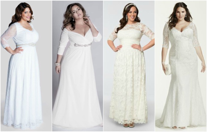 plus size bridesmaids