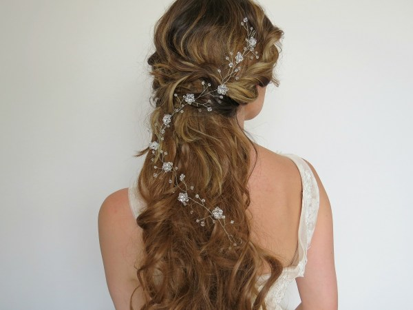 hair pieces, bridal hairpieces
