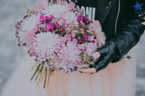 Leather jackets and wedding dresses – yes it's a thing!