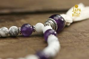 Japa Mala Beads made with semi precious gemstones