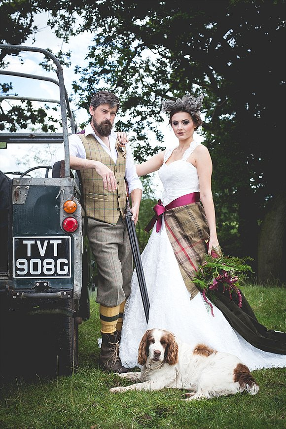 tweed  country a dramatic bridal shoot in Cheshire
