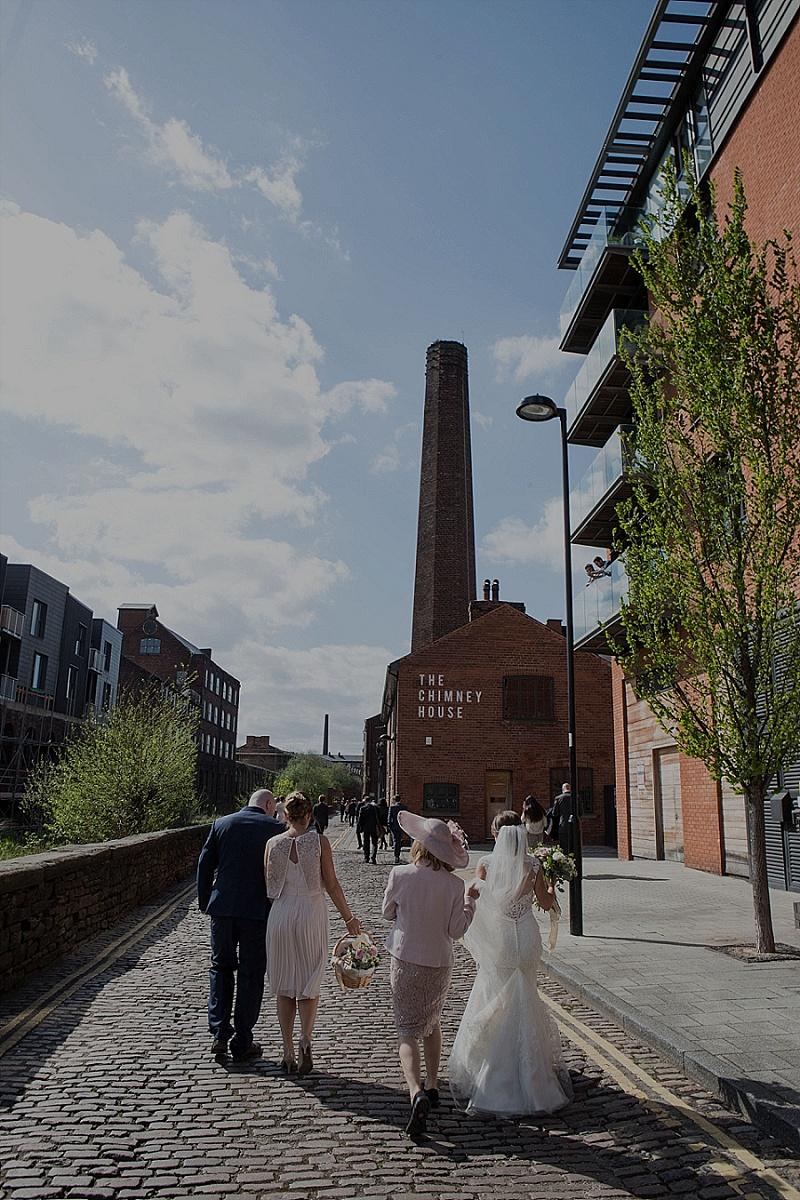 Mori Lee for a Sheffield Wedding at Kelham Island Museum