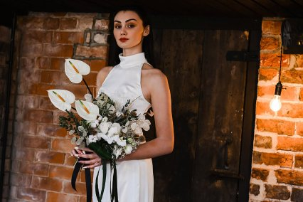 An Industrial Glam Bridal Shoot at Deighton Lodge (c) Littles and Loves Photography (16)